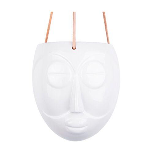Present Time pflanztopf Maske 18 cm Porzellan weiß