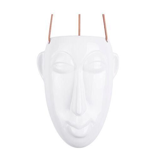 Present Time pflanztopf Maske Lang 22 cm Porzellan weiß