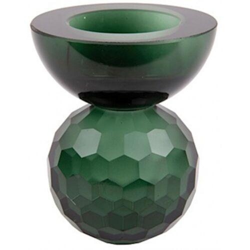 Present Time kerzenständer Crystal Art 7 x 8,5 cm Glas grün