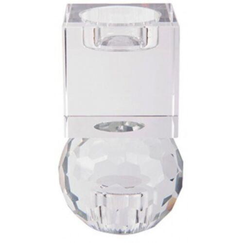 Present Time kerzenständer/Kerzenständer Crystal Art 11,5 cm klar