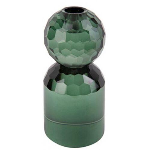 Present Time kerzenständer Crystal Art 7 x 14,3 cm glasgrün