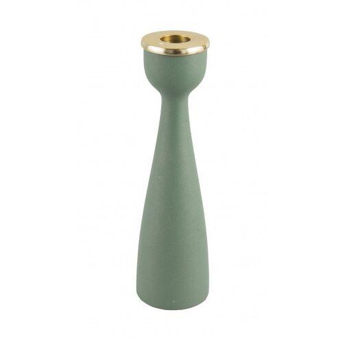Present Time kerzenhalter Nimble 22 x 6 cm Aluminium grün/gold