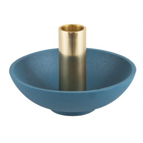 Present Time kerzenhalter Nimble Tub13 x 9 cm aluminiumblau/gold