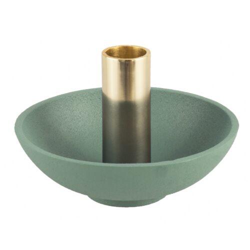 Present Time kerzenhalter Nimble Tub13 x 9 cm Aluminium grün/gold