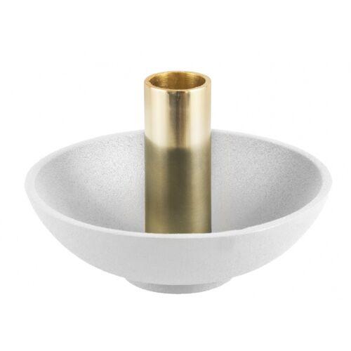 Present Time kerzenhalter Nimble Tub13 x 9 cm Aluminium weiß/gold