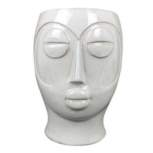 Present Time pflanztopf Maske 22 cm Porzellan weiß