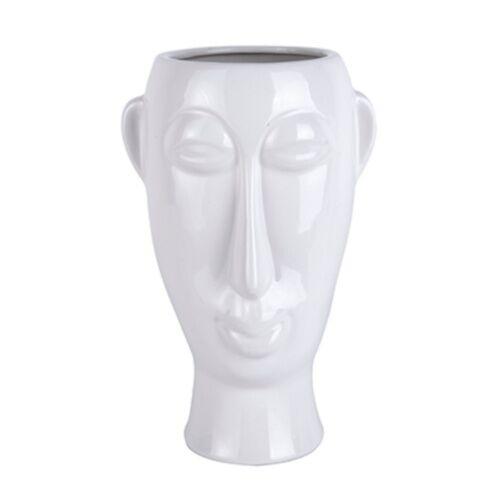 Present Time pflanztopf Maske Lang 27 cm Porzellan weiß