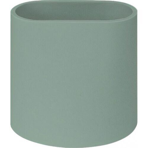 QDO stiftablage Phold 3 silikon 7,5 x 7,5 cm grün