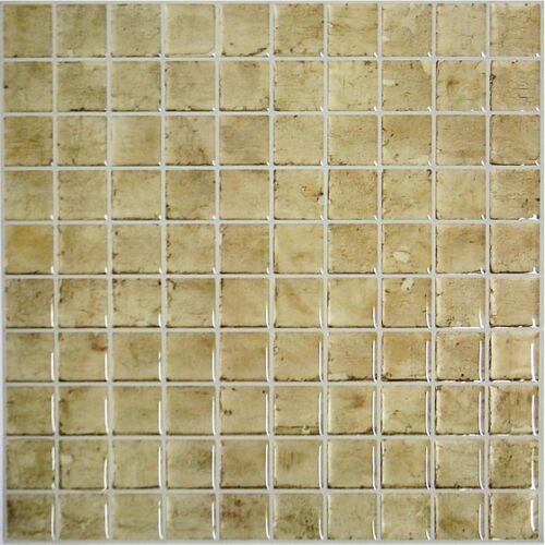 RoomMates StickTiles Stein 27 x 27 cm PVC braun 4 Stück