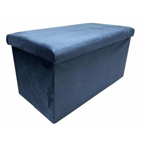Rox Living fußhocker faltbar 76 x 38 x 38 cm samtblau