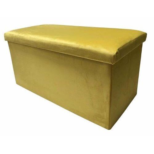 Rox Living puff faltbar 76 x 38 x 38 x 38 cm Samt gold