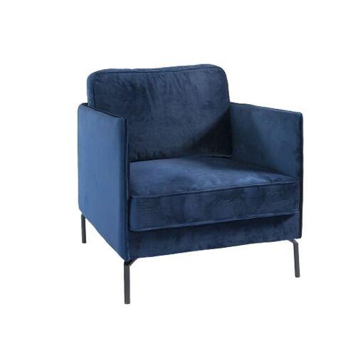 Sense' Living sessel Jasmin 80 x 92 x 86 cm Samt blau