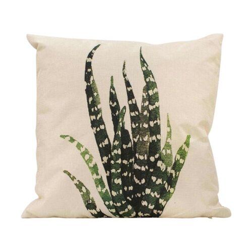 Rox Living kissen Aloe Vera 45 x 45 cm Baumwolle natur/grün