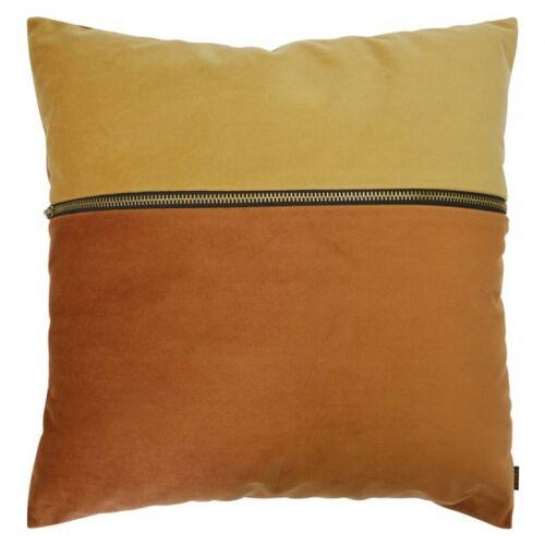 Zons kissen mit Reißverschluss 40 x 40 cm Samt orange/gelb