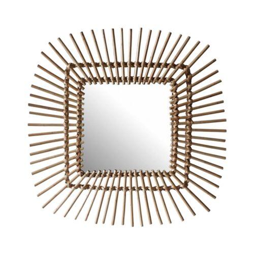 Rox Living spiegel Quadrat Sonne 58 cm natürlich
