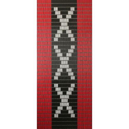 Sun-Arts Sun Arts Amsterdamfliegengitter Ärmel 232x100 cm PVC rot/schwarz