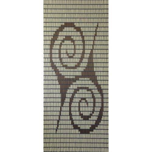 Sun-Arts Sun Arts Ärmel für Fliegengittervorhänge Moed232 x 100 cm PVC creme/braun