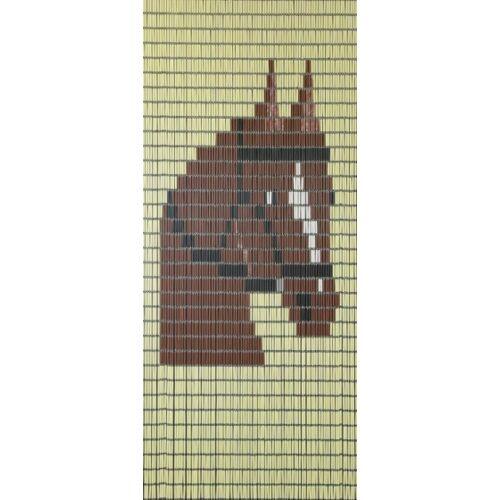 Sun-Arts Sun Arts Ärmel für Fliegengittervorhänge Paard232 x 100 cm PVC creme/braun