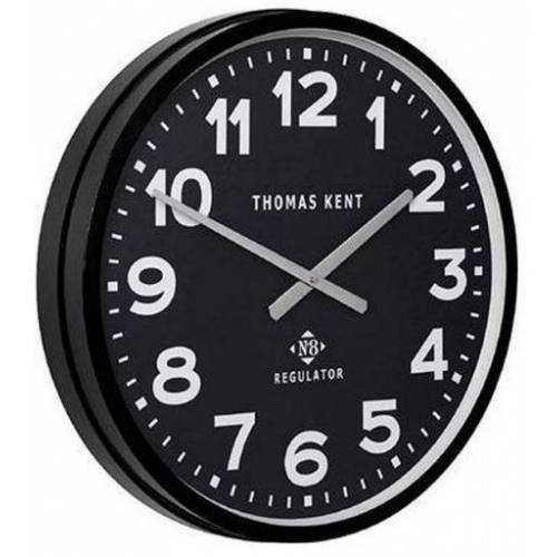 Thomas Kent wanduhr Regulator 54 cm Stahl schwarz/weiß