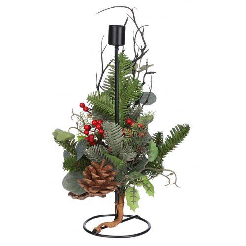 House of Seasons weihnachts Kerzenhalter Addy 30 x 15 cm Metall schwarz