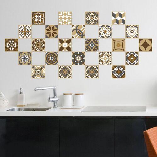 Walplus wandaufkleber Mosaik PVC 10 x 10 cm Bronze 24 Stück