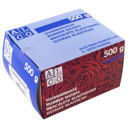 Alco gummibänder 150 x 4 mm Gummi 500 Gramm rot