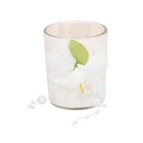 Arti Casa hochzeitskerze 6 cm Wachs/Glas weiß