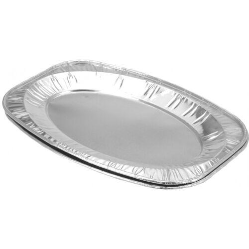 BBQ serviergeschirr Set Aluminium 42,5 x 28,5 cm 2 Stck. silber