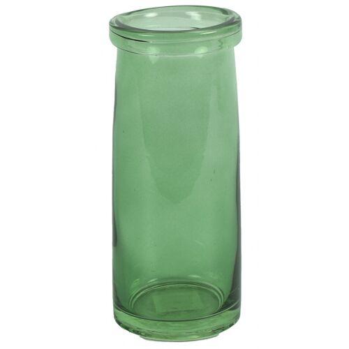 Countryfield vase Missy 8 x 8 x 19 cm Glas grün