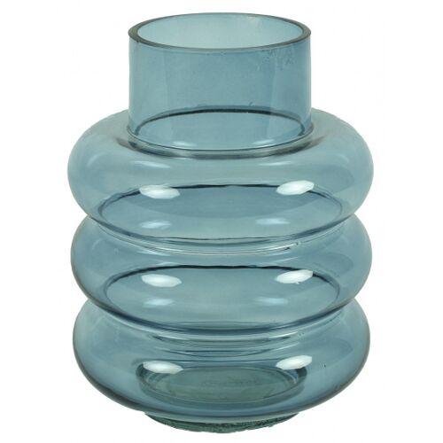 Countryfield vase Nikky 17 x 17 x 22,5 cm Glas blau