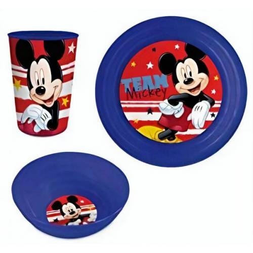 Disney geschirrset DisneyJunior blau/rot 3 teilig