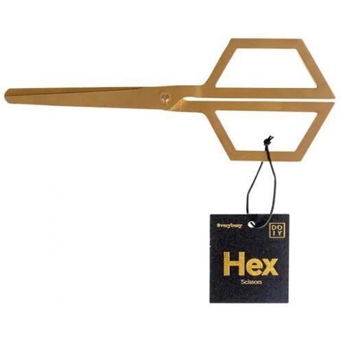Doiy schere Hex 19,8 cm rostfreier Stahl gold