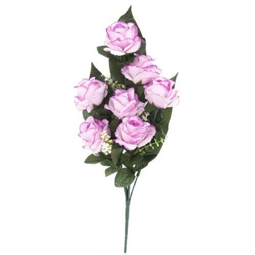 Gerimport künstlicher Blumenstrauß Roos 53 x 7 cm lila