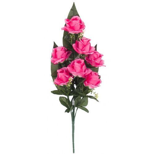 Gerimport künstlicher Blumenstrauß Roos 53 x 7 cm rosa