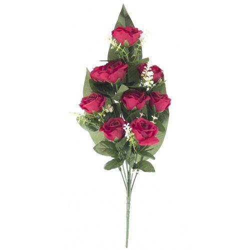Gerimport künstlicher Blumenstrauß Roos 53 x 9 cm rot