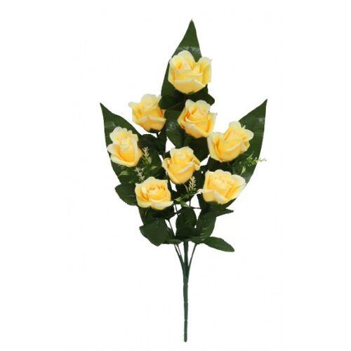 Gerimport künstlicher Blumenstrauß Roos 55 x 8 cm gelb