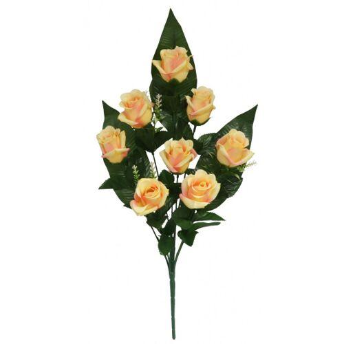 Gerimport künstlicher Blumenstrauß Roos 55 x 8 cm gelb/rosa