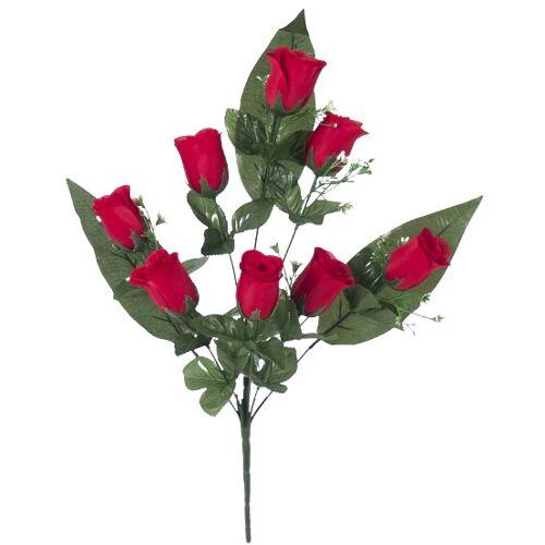 Gerimport künstlicher Blumenstrauß Roos 55 x 8 cm rot