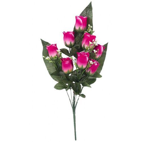 Gerimport künstlicher Blumenstrauß Roos 55 x 8 cm rosa