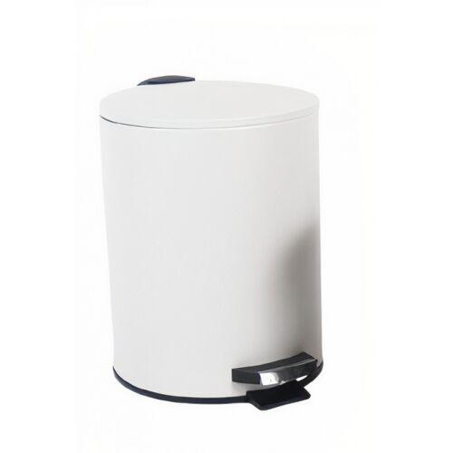 Gerimport papierkorb 23 x 21 x 26 cm 5L Stahl weiß