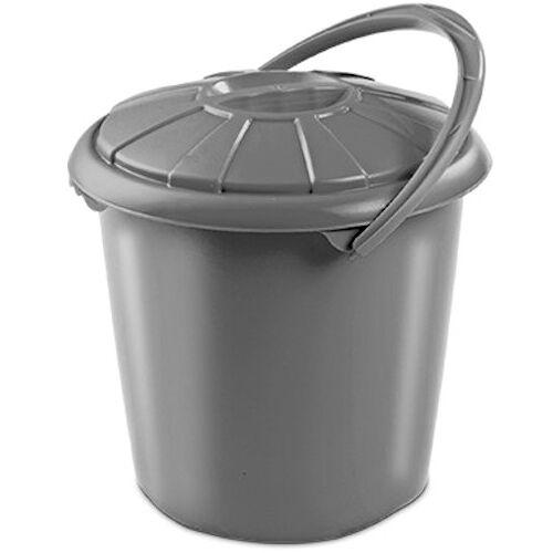Hega abfallbehälter Star 14 Liter 34 x 32,5 cm grau