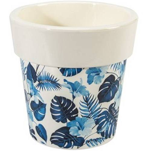 Hega blumentopf Melisa 3,4 Liter 15 x 15 cm weiß/blau