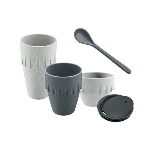 Koziol kaffeebecher My Coffee Connect 15,5 cm grau 5 teilig