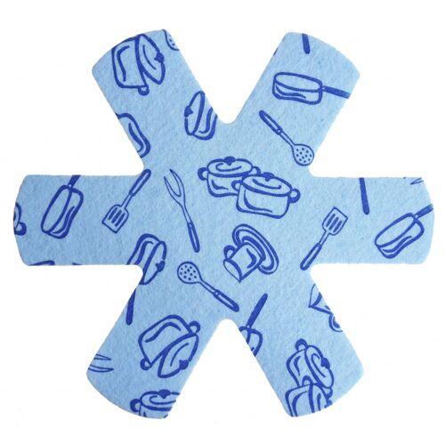 Papillon pfannenschutz Töpfe & Pfannen 38 cm Polyester blau 3 Stück