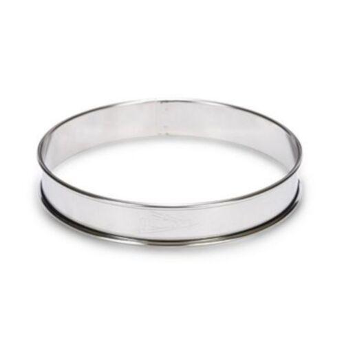 Patisse flan Ring 10 cm rostfreier Stahl silber