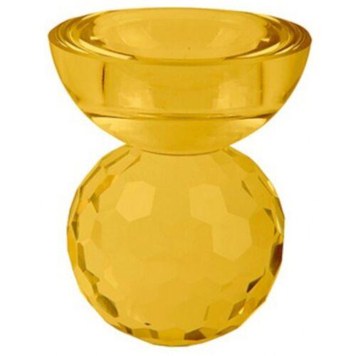 Present Time kerzenhalter Crystal Art 7 x 8,5 cm Glas gelb