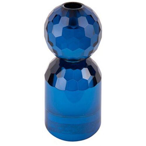 Present Time kerzenständer Crystal Art 7 x 14,3 cm glasblau