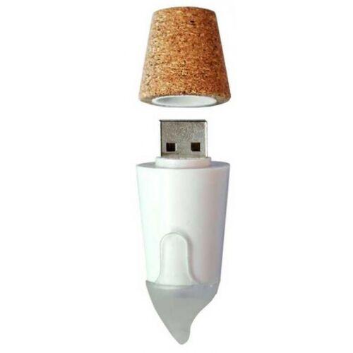 Suck UK flaschenlampe kerze led usb 6,6 x 2,3 cm kork weiss/braun