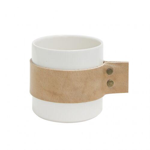Tak Design becher Wrap Me 200 ml 8,5 x 9 cm Keramik weiß/braun