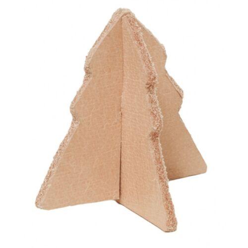 Tak Design tischdekoration Weihnachtsbaum 5 x 5 x 5 cm Leder braun
